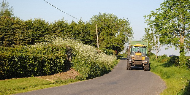 Tractors Increase on Roads as Summer Approaches